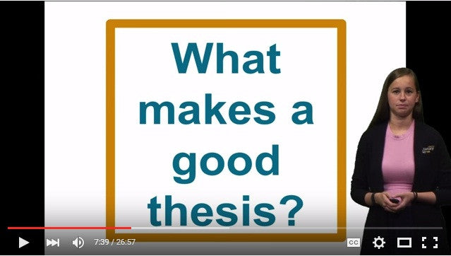 Webinar: Thesis Statement