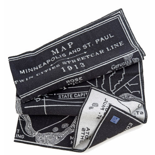 Twin Cities Streetcar Map Throw