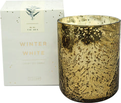 Winter White Mercury Glass Candle
