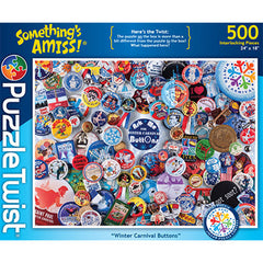 Puzzle Twist - Winter Carnival Buttons