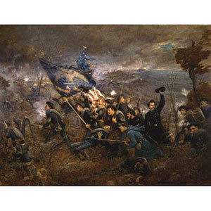 2nd Minnesota Regiment at Missionary Ridge Print
