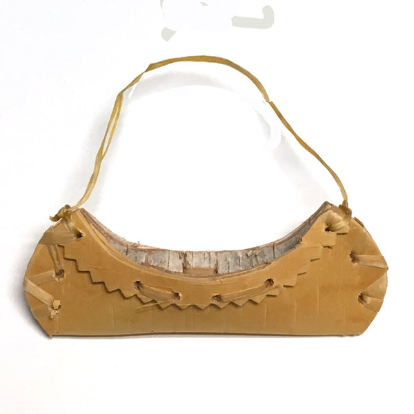 Birch Bark Canoe Ornament