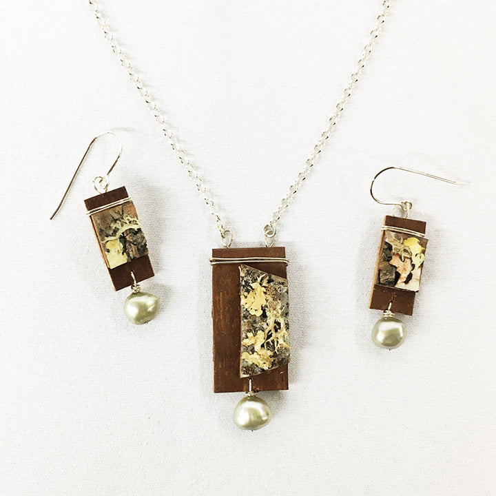 Tessoro Birch, Freshwater Pearl, and Sterling Silver Jewelry