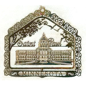 Minnesota State Capitol Brass Ornament