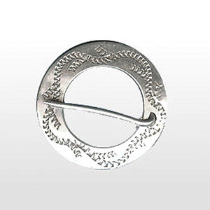 Trade Silver Small Circle Brooch