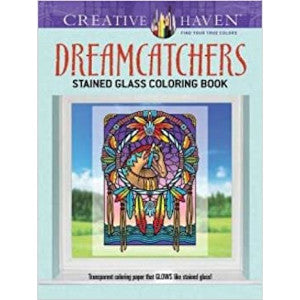 Dreamcatchers Stained Glass Coloring Book