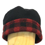 Buffalo Plaid Fleece Dress Hat