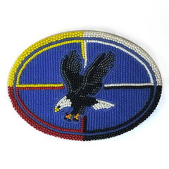 Eagle Beaded Belt Buckle