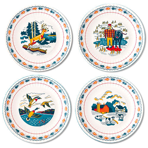 North Woods Plate Set
