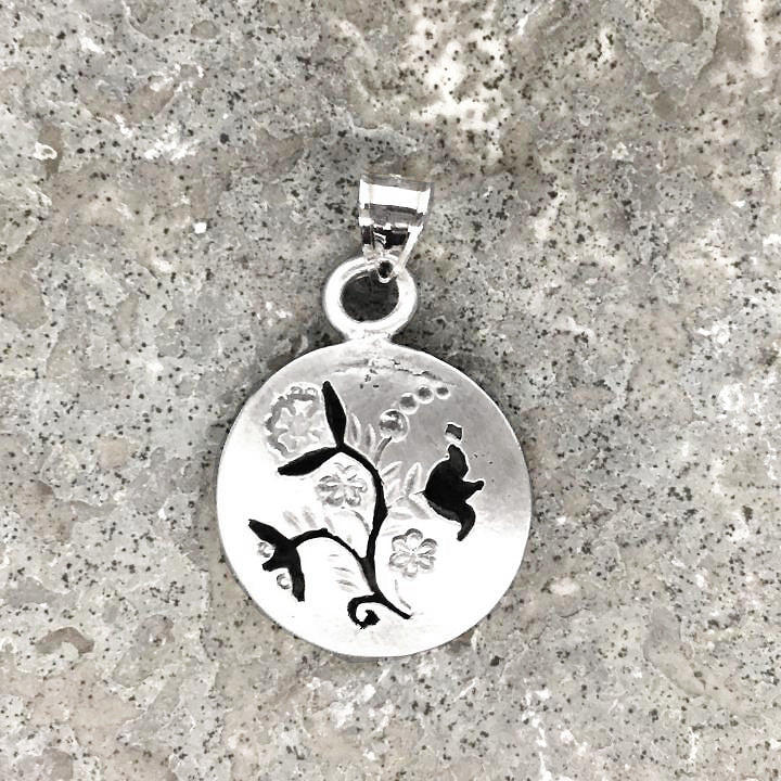 Lineage Designs Shadow Floral Pendant