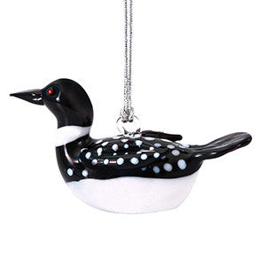 Glass Loon Ornament