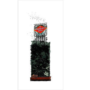 Birdhouse: Grain Belt Beer Sign