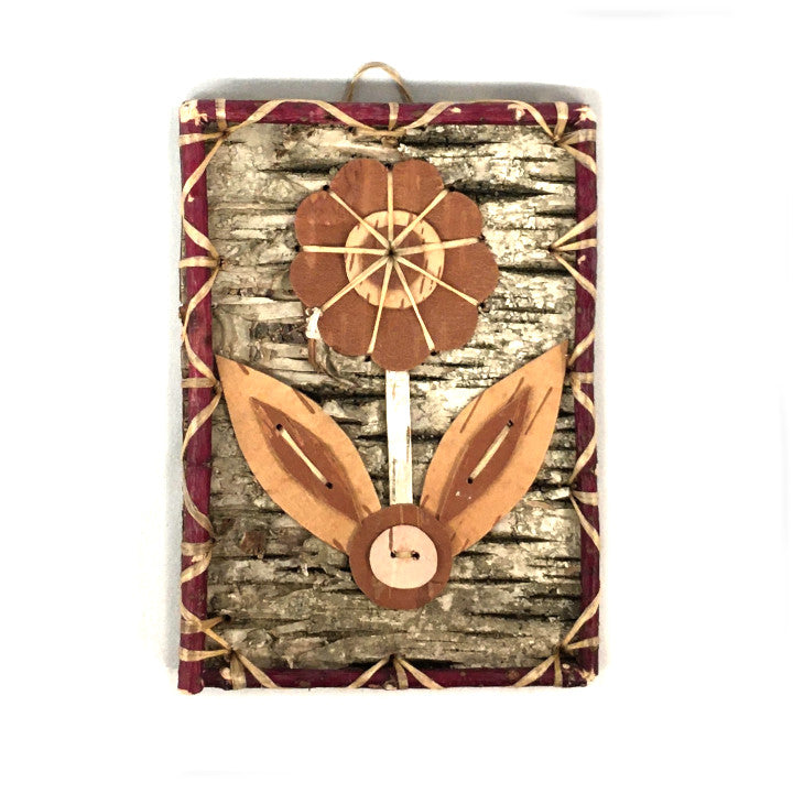Birch Bark Floral Picture