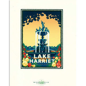 Lake Harriet Rose Garden Print