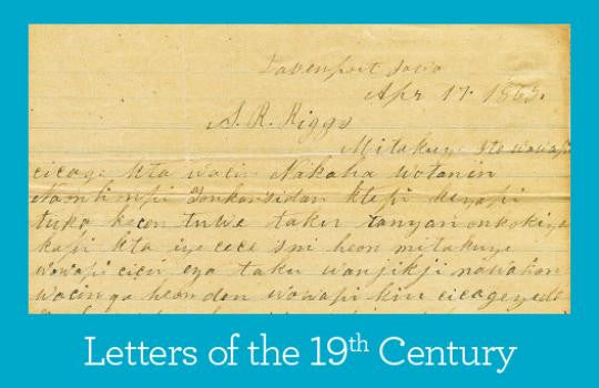 Primary Source Packet: Letters of the 19th Century