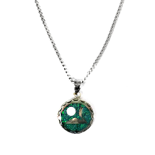 Lineage Designs Loon and Moon Pendant