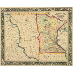 Minnesota and Dacotah in 1860
