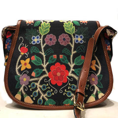 Ojibwe Beadwork Design Saddle Bag