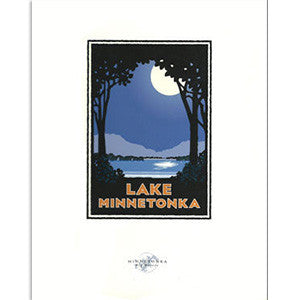Lake Minnetonka Moon Print