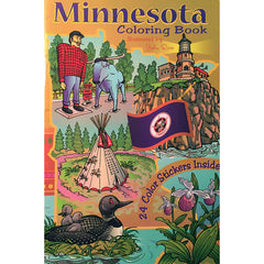 Minnesota Coloring and Sticker Book