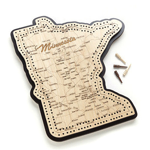 Minnesota Shape Cribbage Board