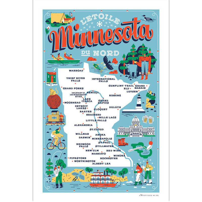 Minnesota Icons Kitchen Towel