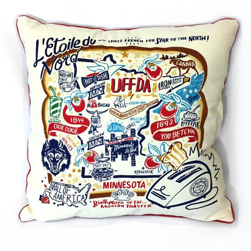 Minnesota Graphic Pillow