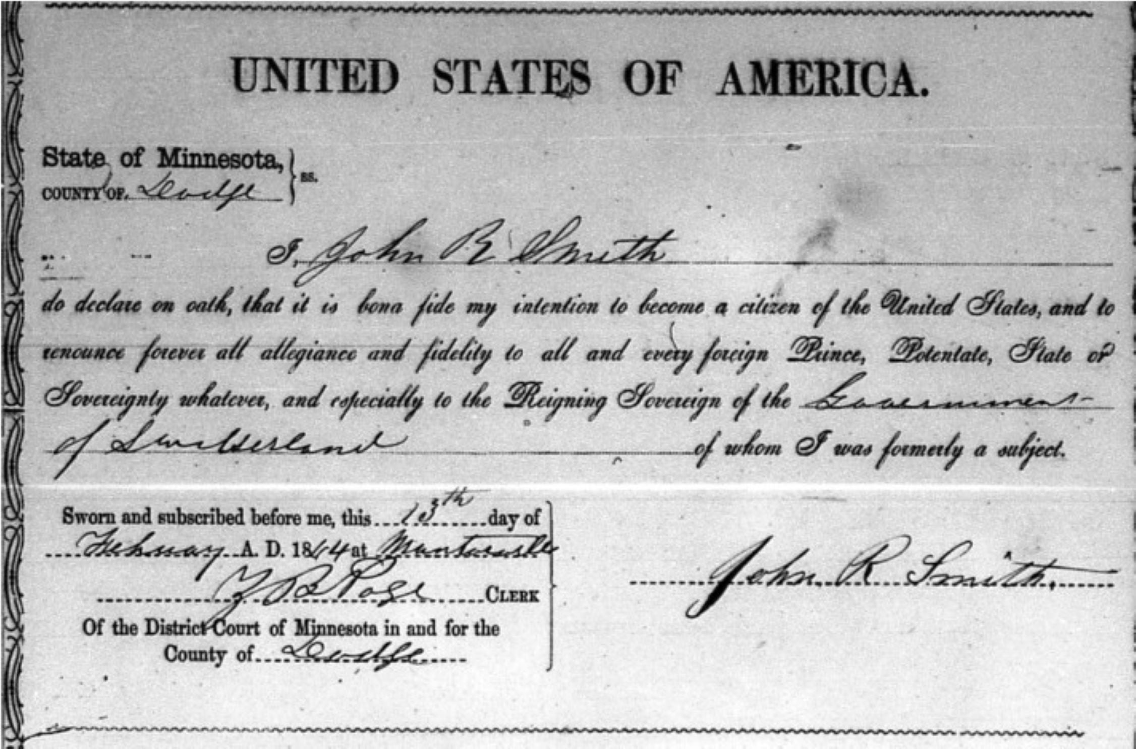 Naturalization Record Request
