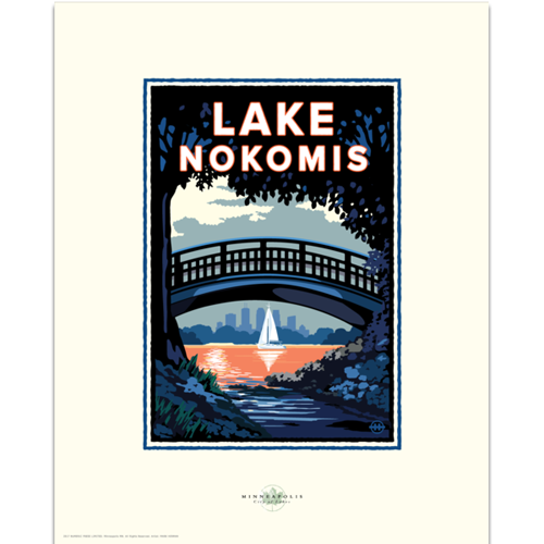 Lake Nokomis Bridge Print