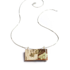 "Tessoro ""Nordic"" Birch and Silver pendant"