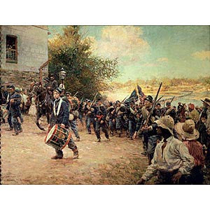 Image of 3rd Minnesota Regiment Entering Little Rock Print