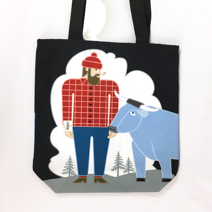 Paul Bunyan and Babe the Blue Ox Tote