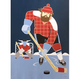 Paul Bunyan and Babe Hockey Print
