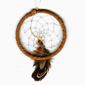 Leather-Wrapped Dream Catcher