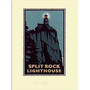 Split Rock Lighthouse Night Print