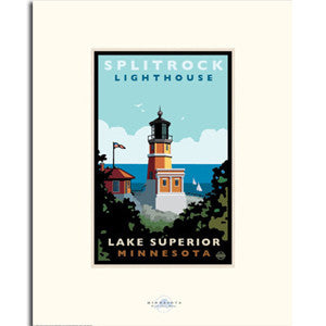 Split Rock Lighthouse Lake View Print