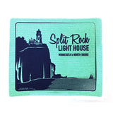 Split Rock LIghthouse Swedish Dishcloth