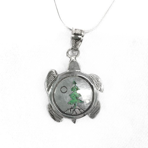 Lineage Designs  Turtle and Tree Pendant