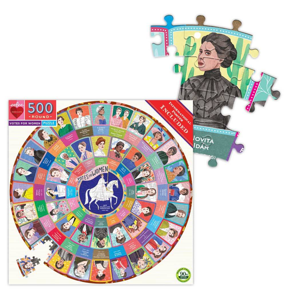 Votes For Women 500 Pc. Round  Puzzle