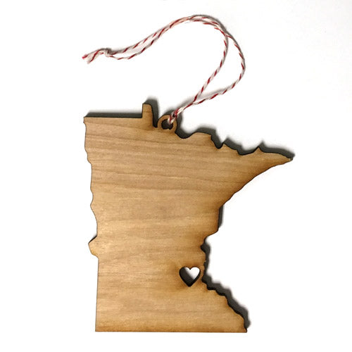 Minnesota State Shape Ornament