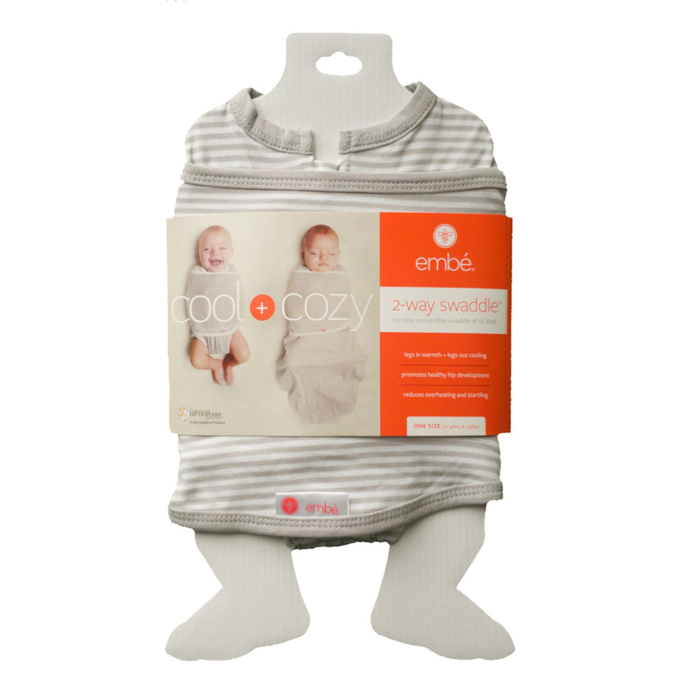 Starter Swaddle Original | Gray Stripe