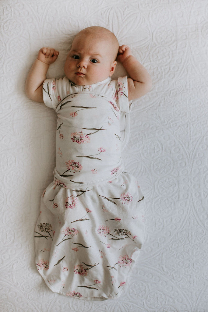 Transitional SwaddleOut | Pink Clustered Flowers
