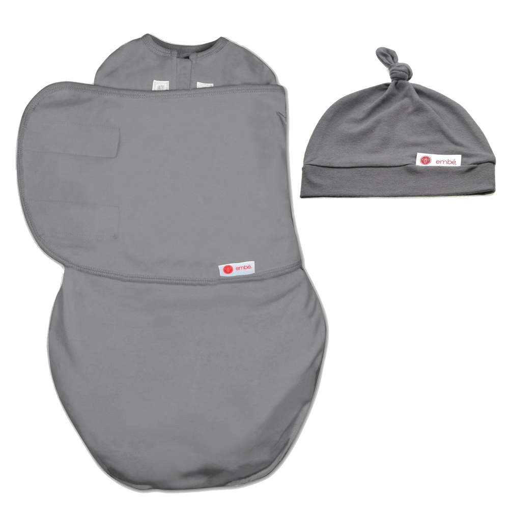 Hat and Starter Swaddle Original Bundle (Slate)