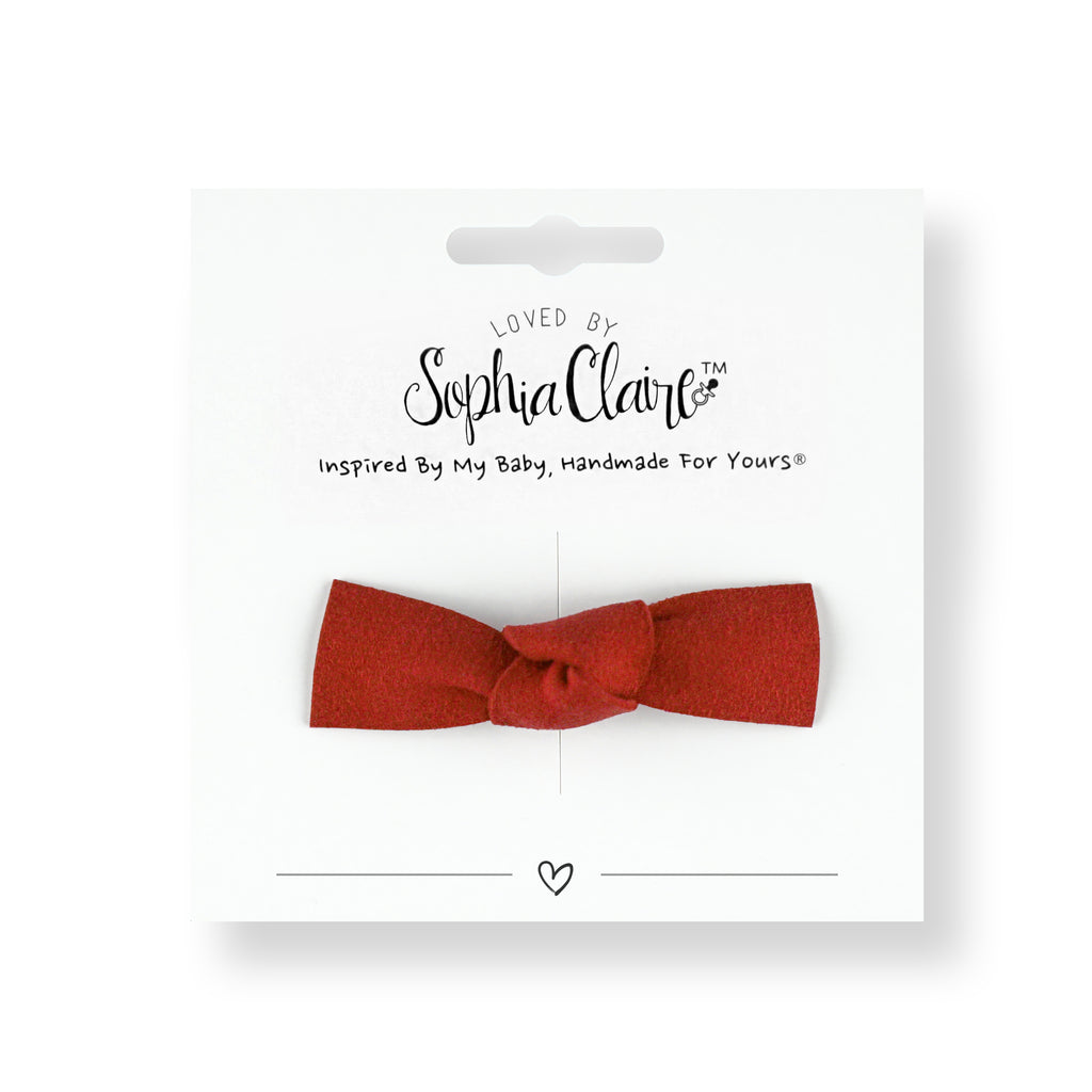 Suede Knot Clip, Heartthrob