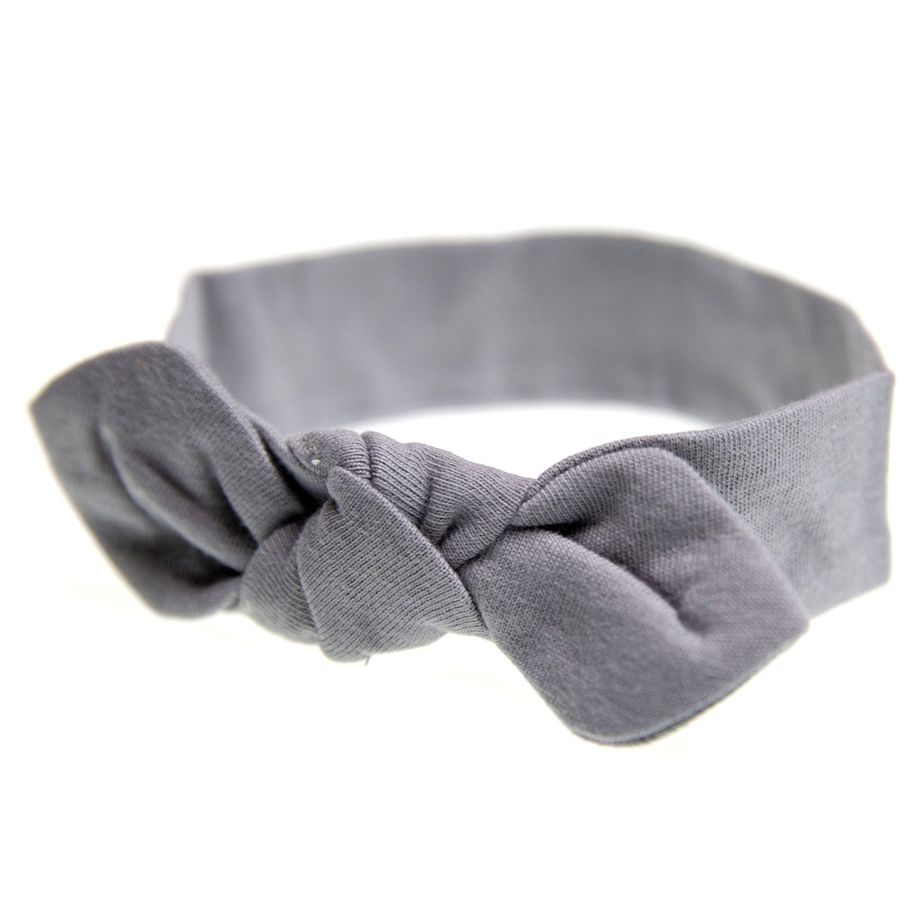 Headband and Swaddle with Long Sleeves Bundle (Slate)