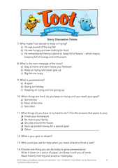Toot - The World's Tiniest Whale Story Discussion Worksheet page 2