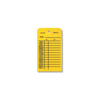 Monthly Fire Extinguisher Inspection Tag – Plastic