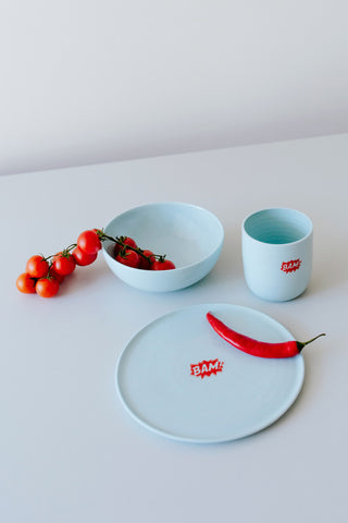 KIDS tableware Set BAM auf türkis