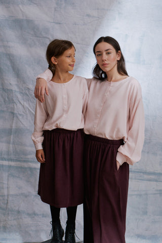 Pia Bluse in rosa Tencel für Damen
