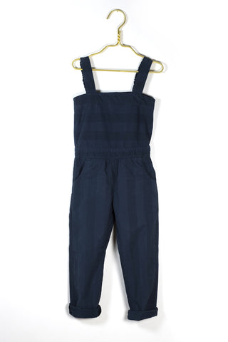 Edda overall in navy stripe